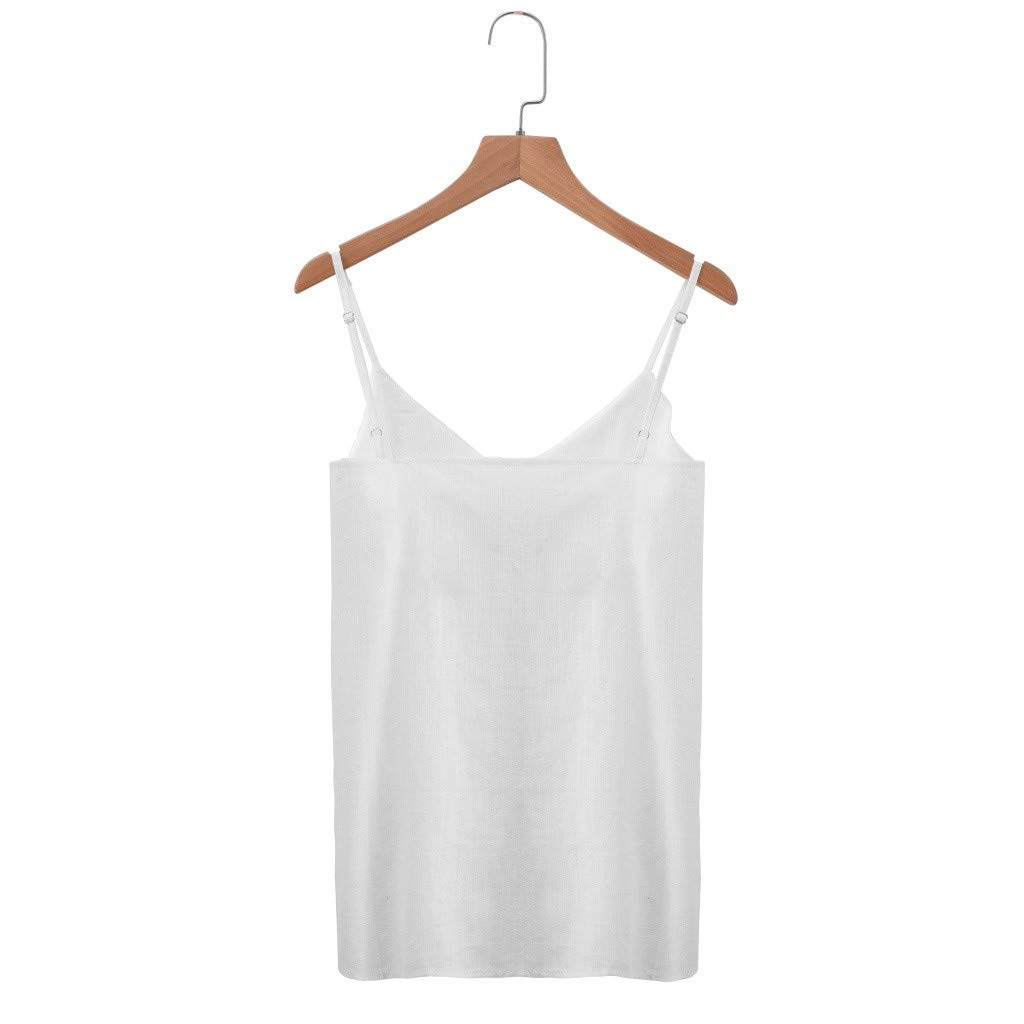 V Neck Plus Size Camisole Sleeveless Blouse Button Down Shirt Solid Tank Tops Tees Womens Tops MISYAA Camis for Women