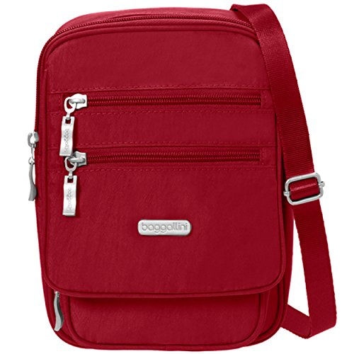 Nylon Pocketed Travel Purse Apple Journey Water �C Baggallini Resistant and Lightweight Crossbody Bag Multi wvfXZq4