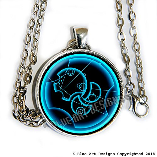 Alloys Spoiler - Doctor Who inspired necklace - says, Hush now, spoilers! - in Gallifreyan - HM