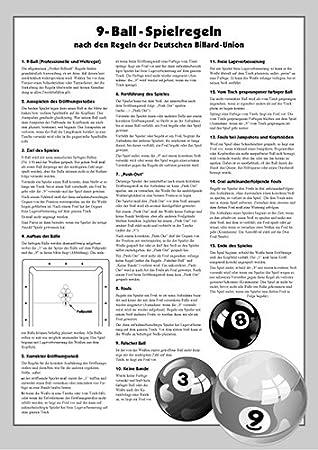 TORNEO-reglas de billar 9-ball: Amazon.es: Deportes y aire libre