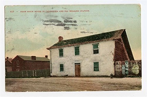 First Brick House in California & Old Whaling Station Postcard -