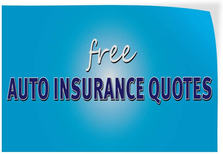 Decal Sticker Multiple Sizes Free Auto Insurance Quotes Auto Car Vehicle Style U Business Free Auto Insurance Quotes Outdoor Store Sign Aqua-Blue