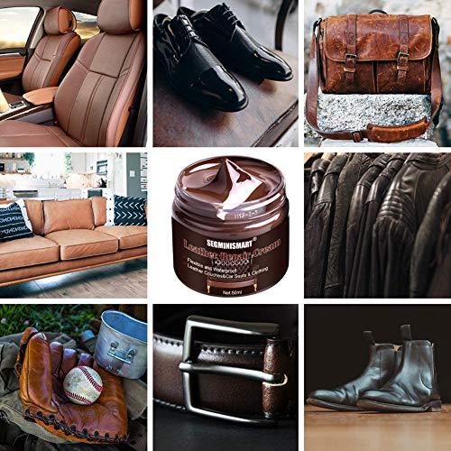 SEGMINISMART Crème Réparatrice Cuir,Kit Rénovation Cuir,Pâte Réparatrice Cuir,Adapté for Le Cuir Lisse/Chaussures/Sacs… 6