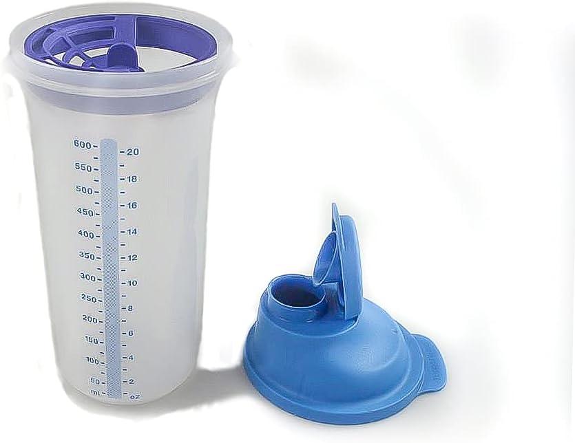 Tupperware Agitador con batidor con recipiente de medición grande 600 ml azul