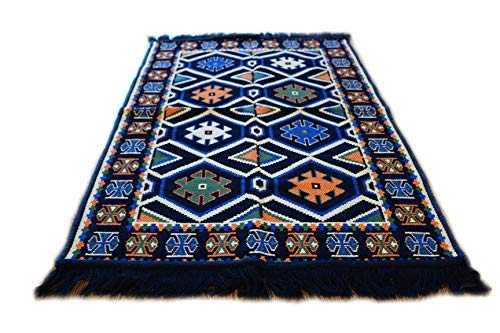 Damaskunst Kélim 110x 70cm Tapis Oriental Kilim, Kilim, Tapis, Tapis de Sol, Revêtement de Sol, Rug, Tapisserie, NEU S 1–2–15 NEU S 1-2-15