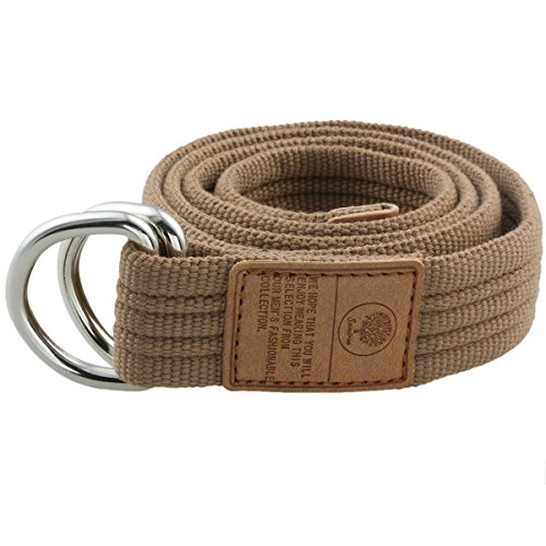 Moonsix Canvas Web Belts for Men, Military Style D-ring Buckle Men's Belt, (Casual Canvas Belt)