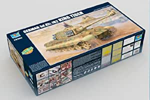 Trumpeter 00910 German King Tiger 2 in 1 - Tanque miniatura (escala 1:16)
