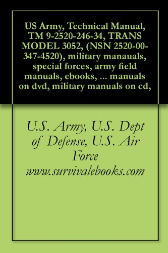 Technical Manual, TM 9-2520-246-34, TRANS MODEL 3052, (NSN 2520-00-347-4520)