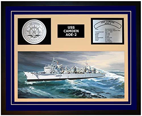 Navy Emporium USS Camden AOE 2 Framed Navy Ship Display Blue