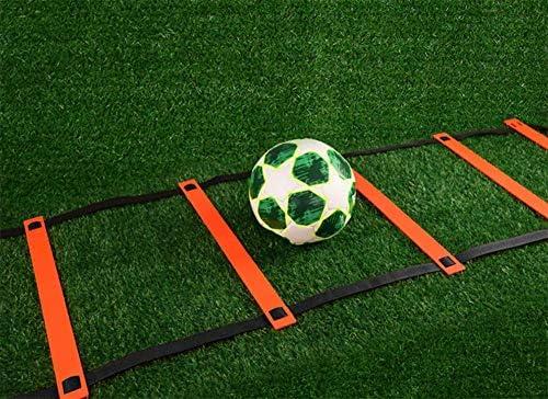 Juego de entrenamiento para escaleras y conos de velocidad | Equipo de ejercicios para mejorar la forma física y aumentar el juego de pies rápido para fútbol, ??lacrosse, hockey y baloncesto (16):