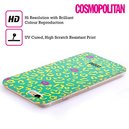 Official Cosmopolitan Teal Sassy Leopard Soft Gel Case for Apple iPhone 6 Plus / 6s Plus
