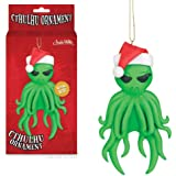Cthulhu With Santa Hat Christmas Tree Ornament