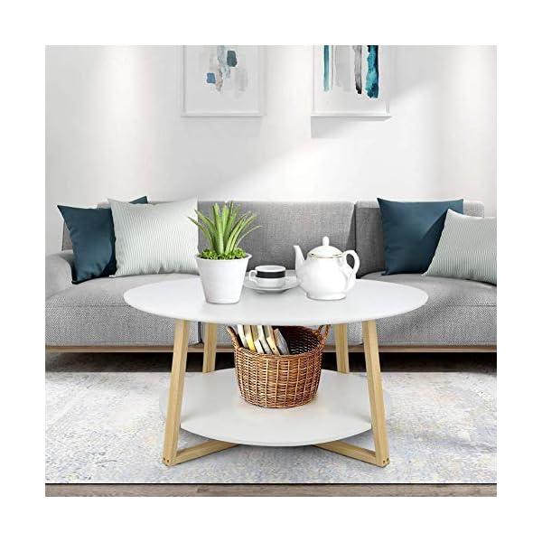 Beistelltisch Tisch Telefontisch Couchtisch Kaffeetisch Weiß Retro Kiefernholz