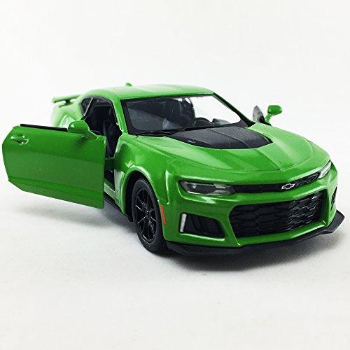 Camaro Nos (2017 Chevrolet Chevy Camaro ZL 1 Green Color Kinsmart 1:38 Die-Cast,Model,Toy,Car,Collectible,Collection)