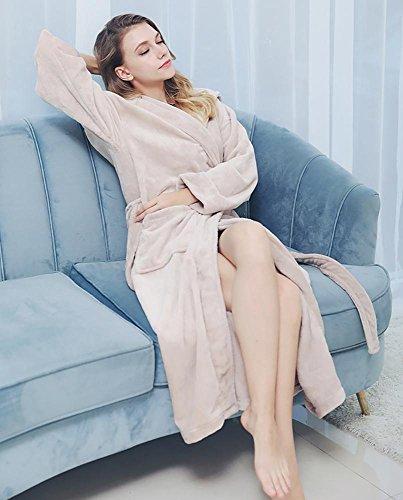 Accappatoio Addensare Camicia Loungewear Donne Inverno Da Chimono Notte Rz Morbido Flanella Uomini Camel hs O Fpwp4PqT