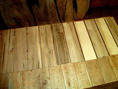 10 Pieces Birdseye Maple Thin KILN Dried Sanded Wood Lumber 12 X 3 X 1/4''