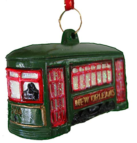 St. Charles Ave. Street Car Trolley Car Holiday Ornament with Free Drawstring ()