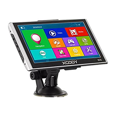 Xgody Truckers GPS 826 Capacitive Touchscreen 7 Inch Car GPS Navigation System AT NAV with Lifetime Maps by Shenzhen Xin Sheng Shang Technology Coltd