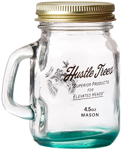 - Hustle Trees Men's Ht 4.5 Ounce Mason Jar, Shiny Gold, One Size