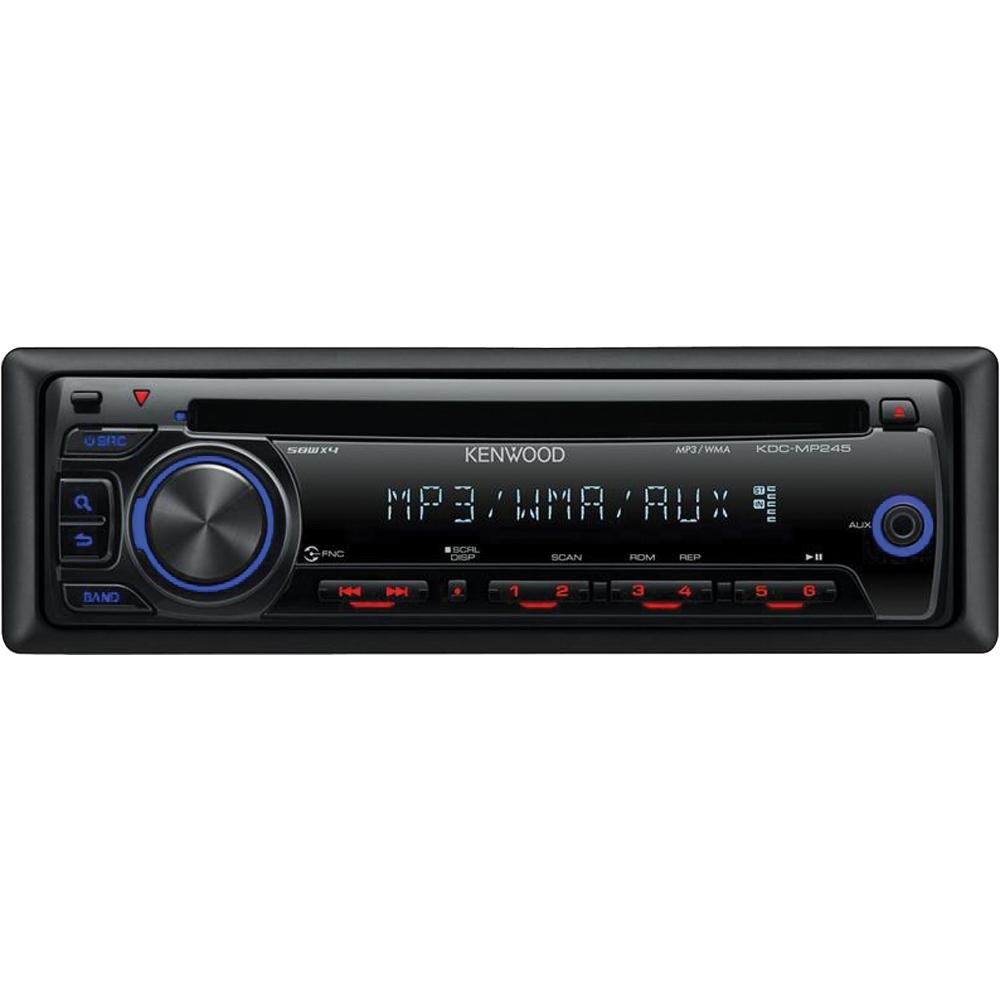 Kenwood Kdc Mp245 In Dash Cd Receiver With Front Aux Wiring Diagram 1996 Input Cell Phones Accessories