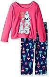 Peas & - Conjunto de 2 Camisetas para Dormir para niña Brillante, Marino, 4 Años