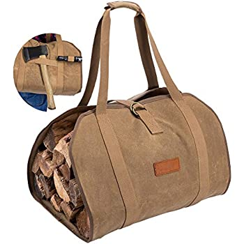 Firewood Log Carrier Ballistic Log Tote Bag,Super Stronger Than Canvas Firewood Carrier Log Tote Bag Melo Tough