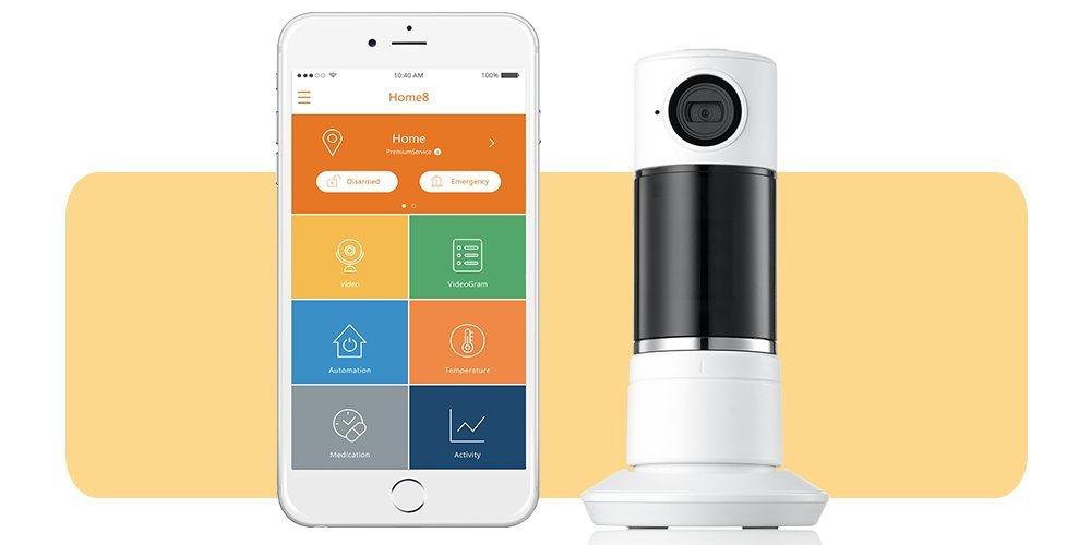 Home8 ActionView Video-Verified Interactive Panoramic Talking Camera, No Hub Required, Wi-Fi, featuring Amazon Alexa Integration & other Ecosystem Partners