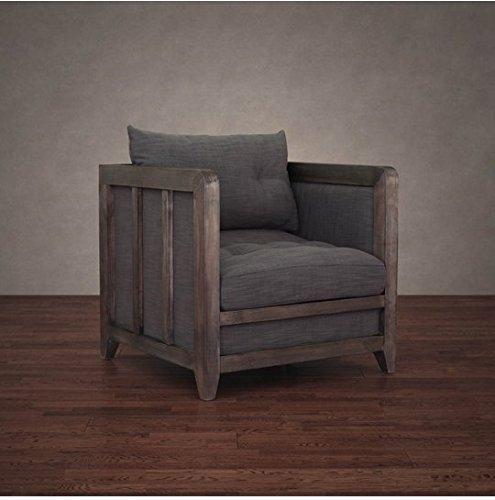 Amazon Com Creston Smoke Linen Rustic Living Room