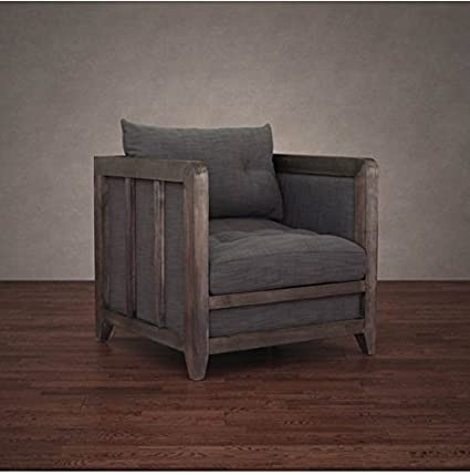Amazon.com: Creston Smoke Linen Rustic Living Room ...