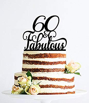 60 y fabuloso adorno de cumpleaños elegante para 60 ...