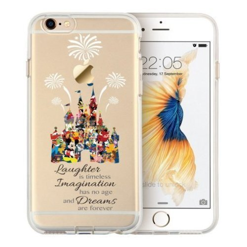 iPhone 6/ 6s/ 6 Plus/ 6s Plus, [Clear Case] Disney Cartoon Character Themed Case [Hard Back Cover] (Disney Castle, iPhone 6 plus / 6s plus (5.5 (Cartoons Characters)