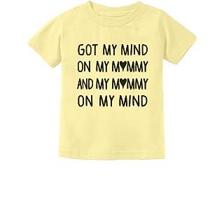 Tstars Got My Mind On My Mommy Funny Cute Infant Kids T-Shirt 24M Banana
