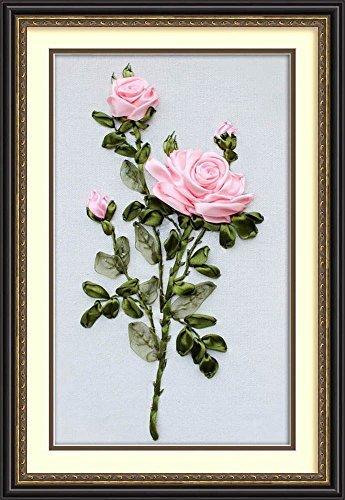 Wandafull Ribbon embroidery Kit Handmade Red Rose (No (Rose Silk Ribbon)