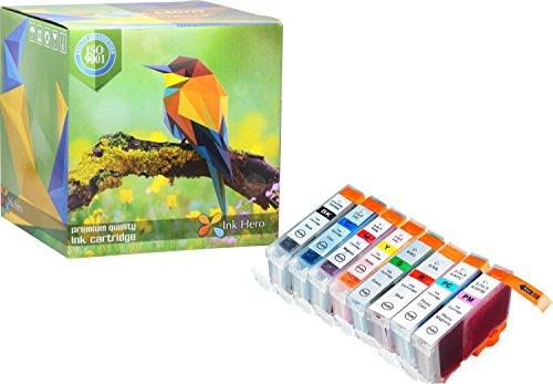 Ink Hero 8 Pack Ink Cartridges for BCI-6 i9900 Photo Pixma iP8500 Printer Inks for Inkjet Printers