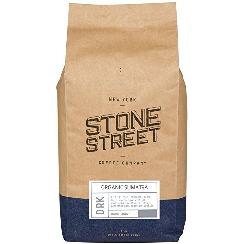 DARK SUMATRA ORGANIC Fair Trade Coffee | Whole Beans | 5 Lb Bulk Large Bag | Premium Select Indonesian Coffee Origin (Packaging may vary)