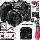 : Nikon COOLPIX B500 16MP 40x Optical Zoom Digital Camera w/ Built-in Wi-Fi NFC & Bluetooth (Black) + 32GB SDXC Accessory Bundle
