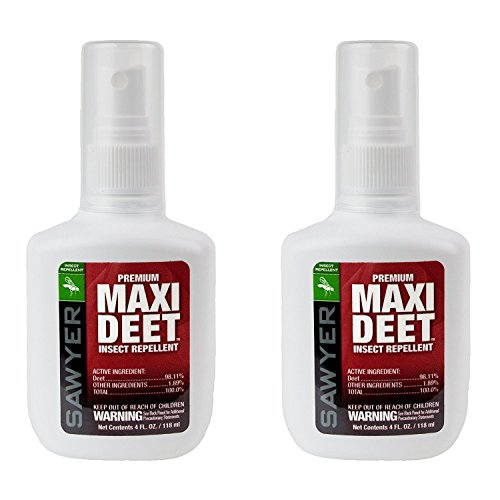 Sawyer Products SP7142 Premium Maxi-DEET Insect Repellent Pump Spray, Twin Pack, 4-Ounce (Repellent Premium Sawyer Insect)