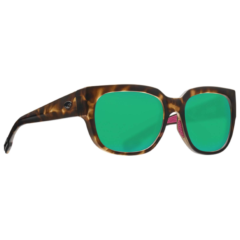 Costa Del Mar Waterwoman Sunglasses Matte Shadow Tortoise 580G Polarized Green Mirror Glass         by Costa Del Mar