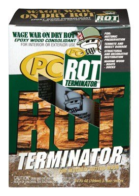 - PC Products 240618 PC-Rot Terminator Two-Part Epoxy Wood Hardener, 24 oz in Two Bottles, Amber