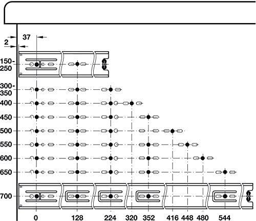 Schubladenschiene Vollauszug ACCURIDE 3832 Teleskopauszug 150 mm Ausz/üge f/ür Holz-Schubk/ästen Tragkraft bis 45 kg 1 Paar Stahl verzinkt Teleskopschiene mit Rastung in geschlossener Position