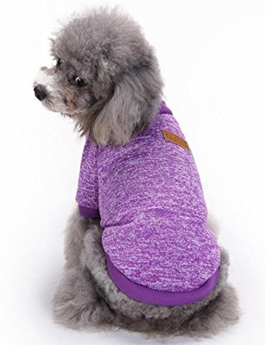 Small Dog Sweater Sisha Fashion Classic Polar Fleece Pet Dog Clothes Purple XL Eagles Classic Fleece
