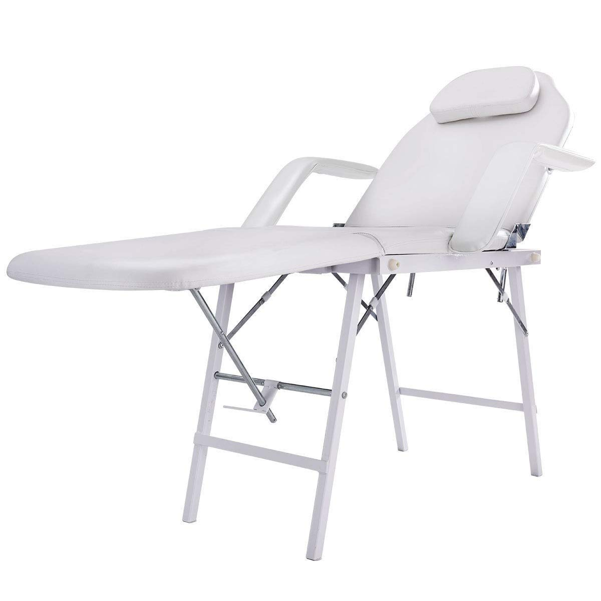 73''L Portable Adjustable Massage Table Chair Couch for Salon Beauty Physiotherapy Facial SPA Tattoo Household by SAFEPLUS (Image #3)