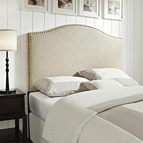 - Pulaski Selma Camel Back Linen Panel Headboard, Full / Queen