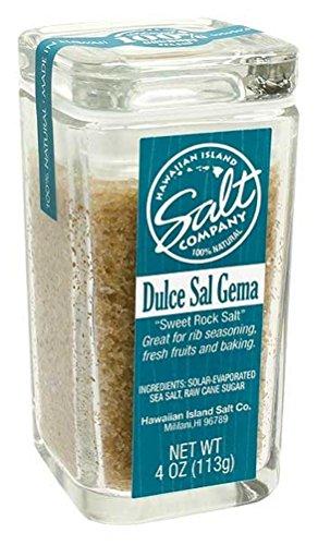 Value Pack 2 Jars 4 oz. Each Hawaiian Island Salt Company Dulce Sal Gema Sweet Rock