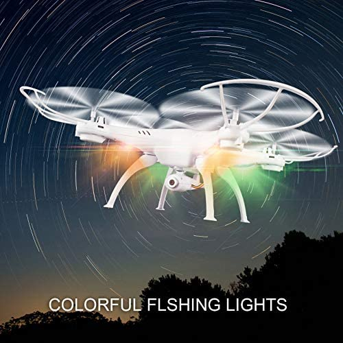 Cheerwing Syma X5SW-V3 WiFi FPV Drone 2.4Ghz 4CH 6-Axis Gyro RC Quadcopter Drone with Camera, White (Renewed) 51e 2BeCuecIL