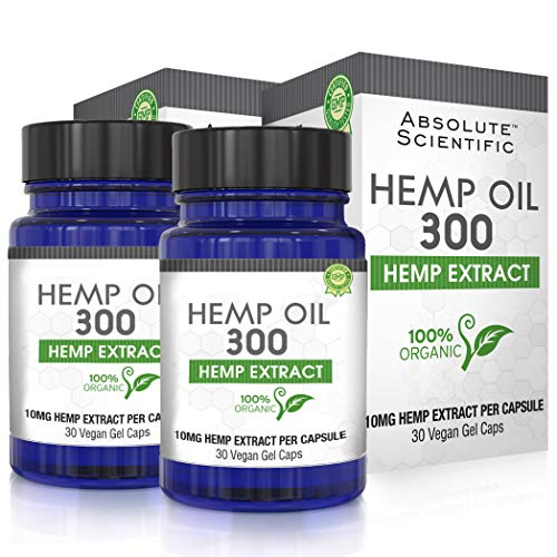 Hemp Oil Capsules 2-Pack for Pain Relief, Reduce Stress, Anti-Anxiety, Natural Anti Inflammatory, Rich in MCT Fatty…