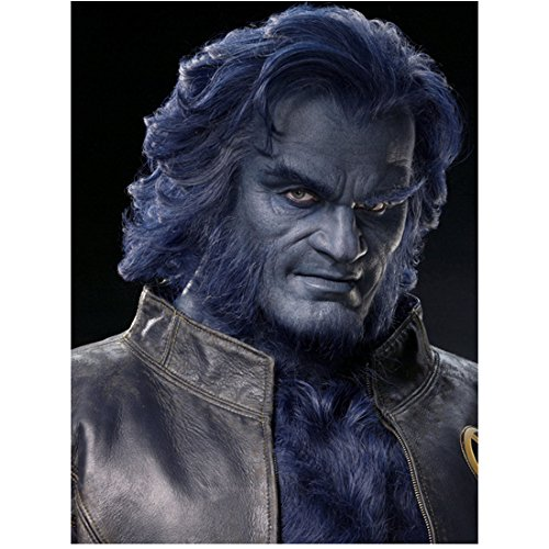 (Kelsey Grammer 8 inch x10 inch Photograph Cheers Frasier X-Men Head Shot as Beast in Leather Jacket)
