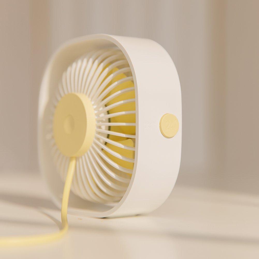 AmuseNd USB Personal Fan, USB Power Fan Ultra-Quiet Design Third Gear Speed Mini Fan for Office Desktop by AmuseNd (Image #3)