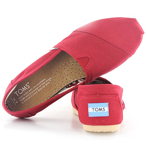 Slip-on Da Donna In Tela Red3