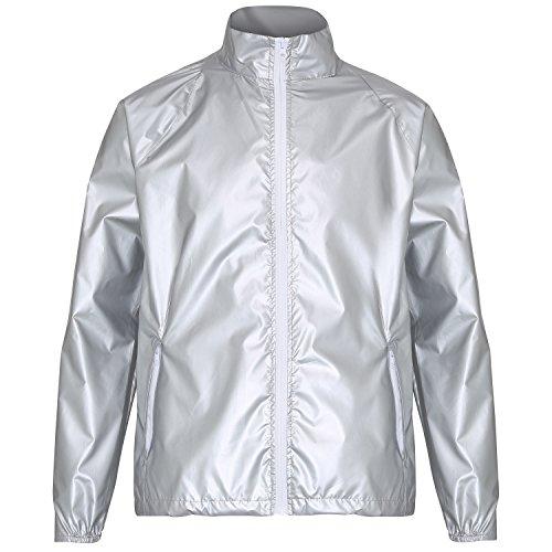 ligera met plateado de Chaqueta multicolor chaqueta contraste 2786 de hombre 5za1qP
